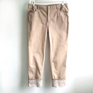 Lafayette 148 Dahlia Cuffed Cropped Jeans